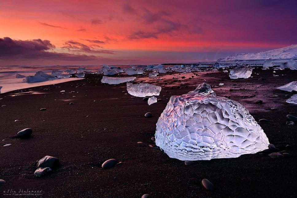 Jökulsárlón-Beach,-Iceland