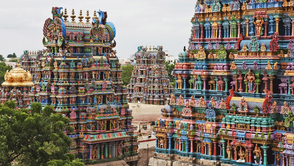 Meenakshi-Temple,-Madurai,-India