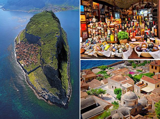 A cidade medieval que fica escondida no meio de uma ilha grega