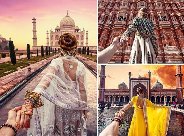 Namorada leva seu amor pelas mãos em série fotográfica inspiradora na Índia