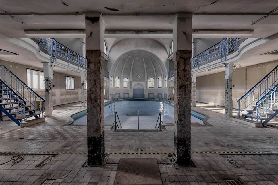 old abandoned swimming baths