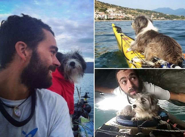 Sim, ele deixou o emprego para andar de caiaque pelo Mediterrâneo – e encontrou uma grande amiga