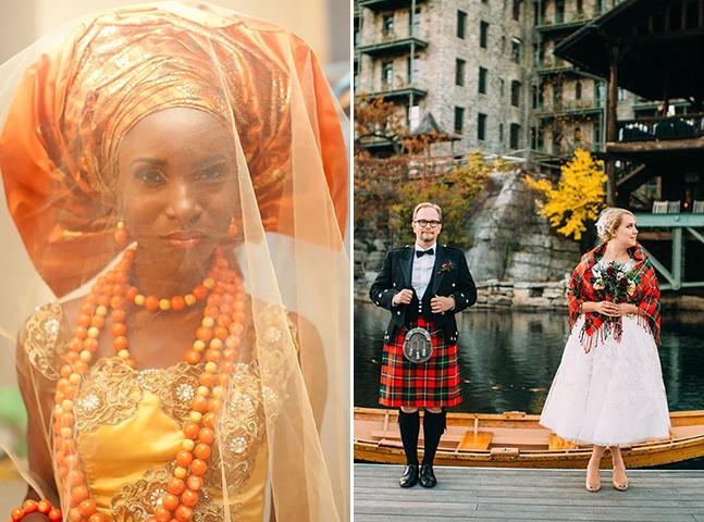 Projeto fotográfico mostra como são <!--second-line-->vestidos de casamento ao redor do mundo
