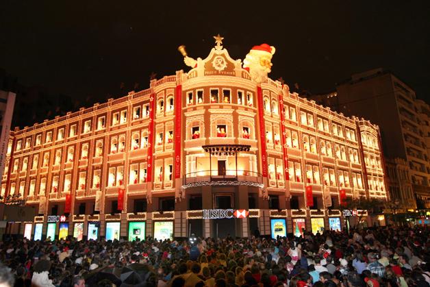 O natsl em Curitiba (PR)-Na image, o Natal no HSBC. Foto:Luiz Costa/SMCS