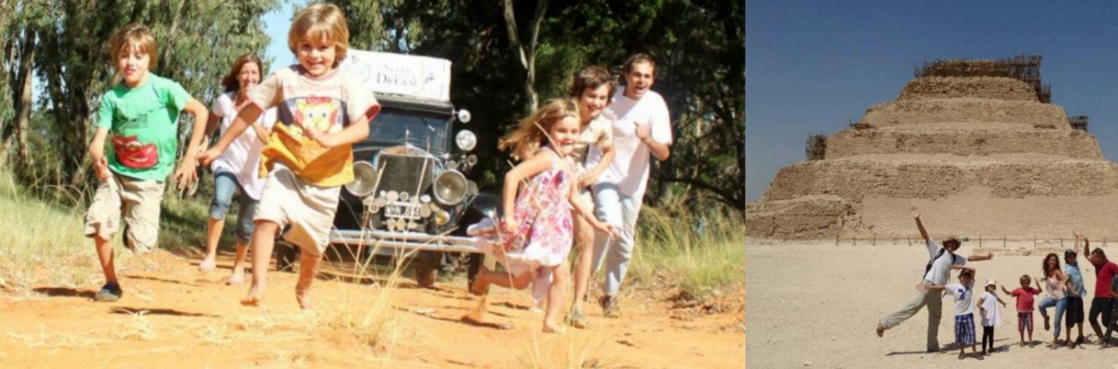 Esta família viaja o mundo há 15 anos a bordo de um carro dos anos 1920