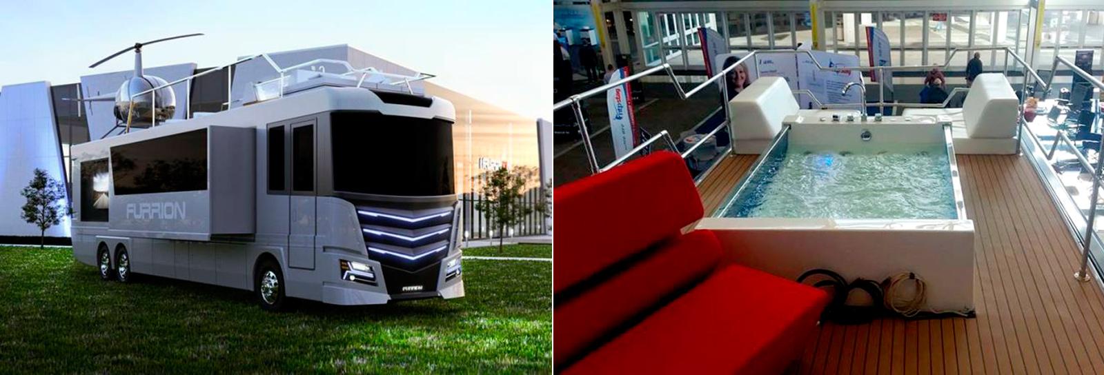 Empresa lança motorhome de luxo (e de sonho) com banheira de hidromassagem no topo