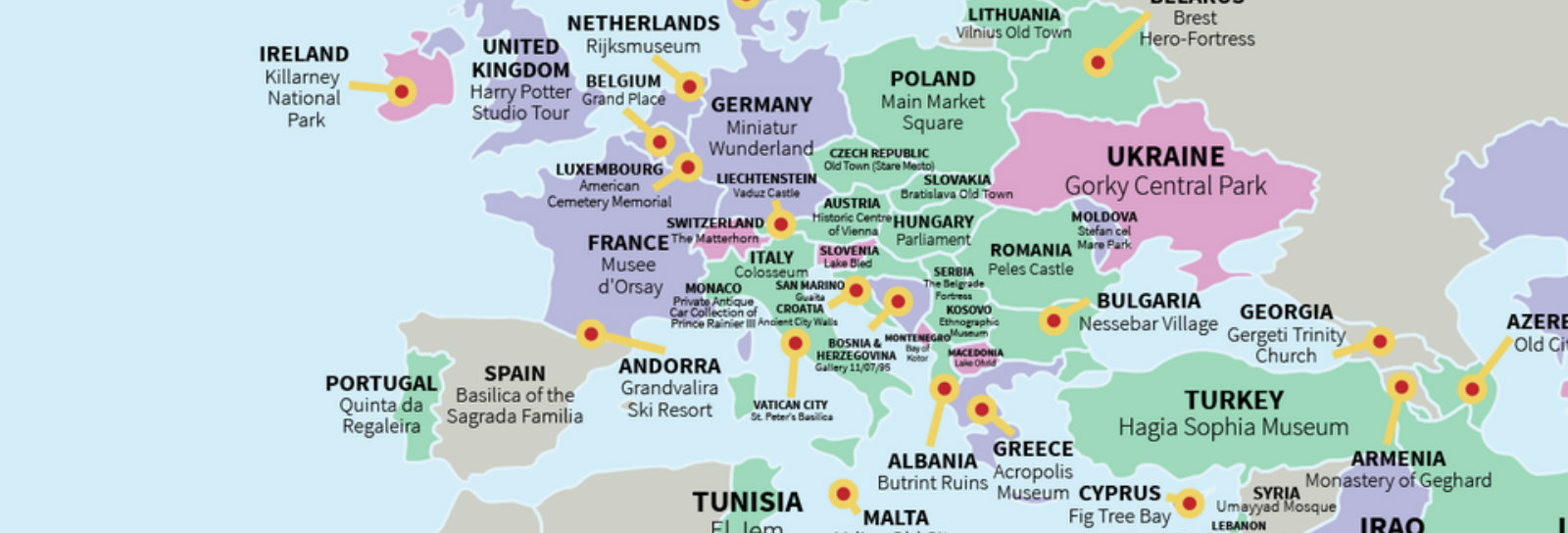 O que você não pode deixar de conhecer em cada país da Europa, segundo os turistas