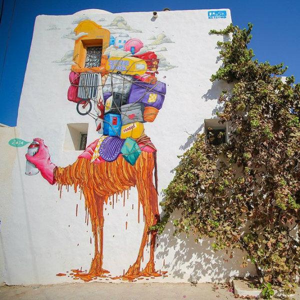 Como a street art transformou um pequeno vilarejo na Tunísia