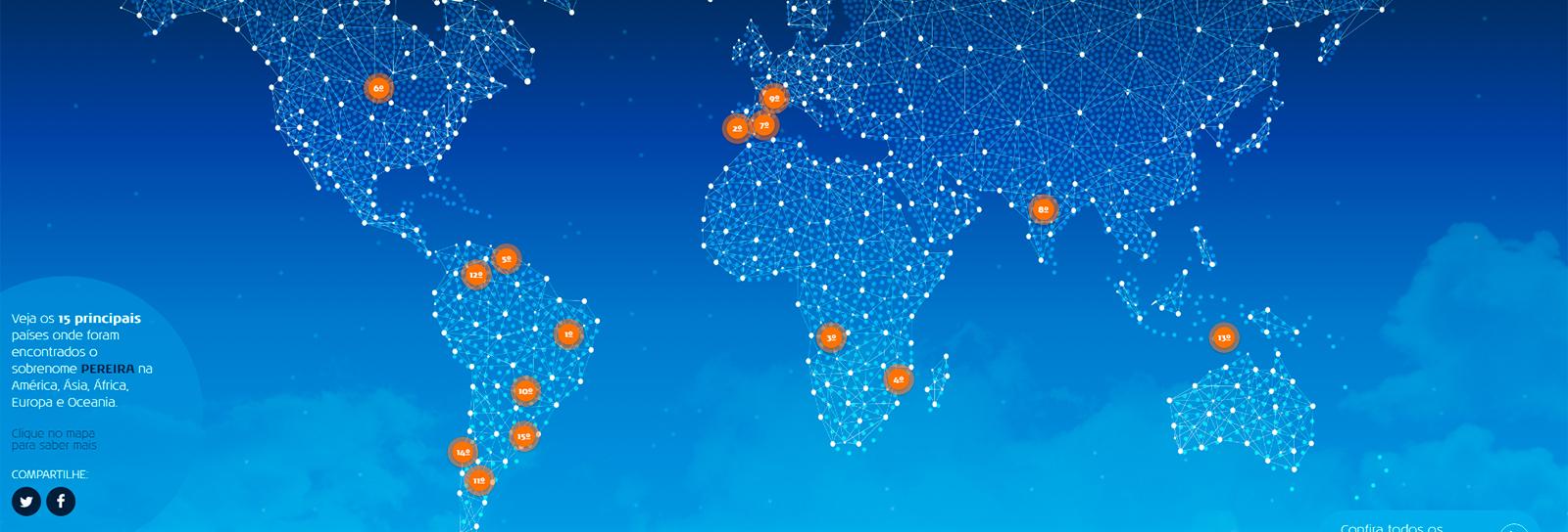 KLM lança ferramenta que verifica incidência de pessoas com seu sobrenome pelo mundo