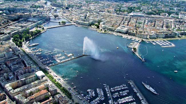 Genf, Jet d'eau