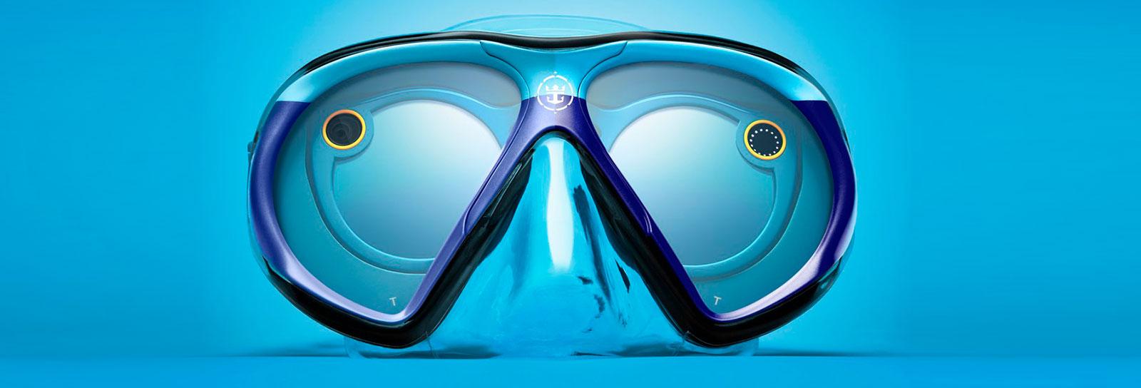 Esta máscara de mergulho manda imagens direto para as redes sociais