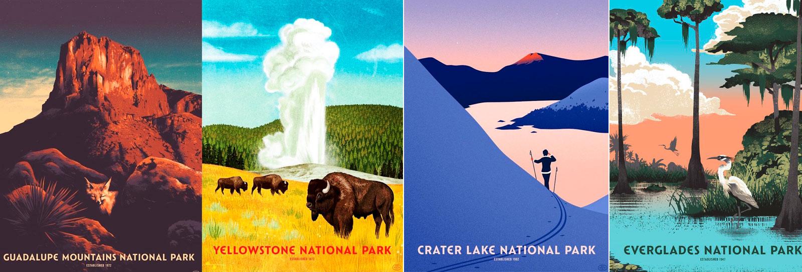 Esses pôsteres vão te fazer colocar os parques nacionais dos EUA no topo da lista de viagens
