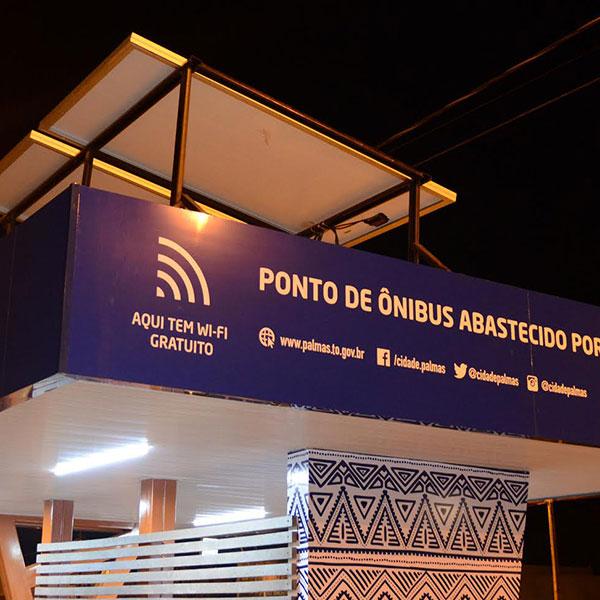Palmas (TO) recebe pontos de ônibus com energia solar e wi-fi