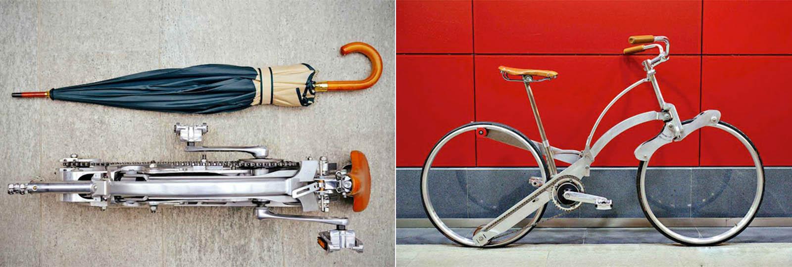 Bike com design incrível pode ser dobrada como um guarda-chuva e transportada para qualquer lugar